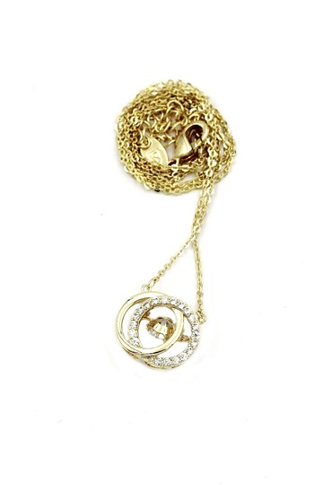 Ocean Fashion 925 Gold double ring clavicle crystal necklace Image 2