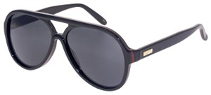 Gucci GUCCI 0270 Black Red Green Stripe Aviator Unisex Sunglasses GG0270S
