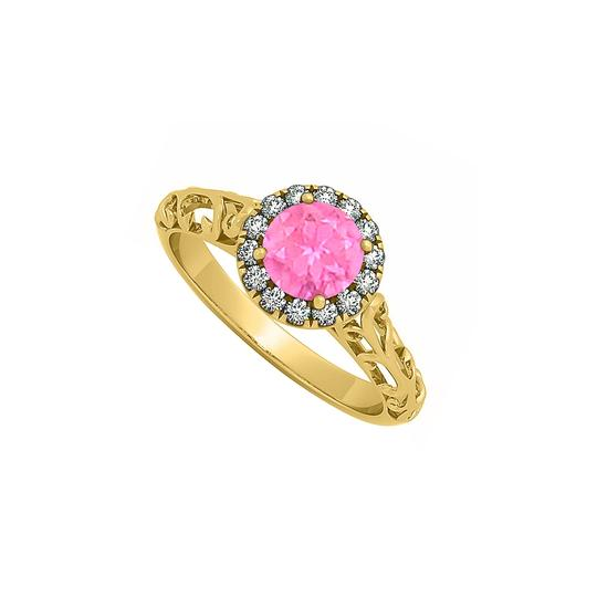 Preload https://img-static.tradesy.com/item/25774904/pink-sapphire-and-cubic-zirconia-halo-filigree-engagement-ring-0-0-540-540.jpg