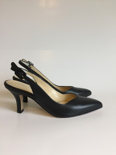 Marches Vous Leather Italian Comfortable Pointed Toe Slingback Black Pumps Image 2