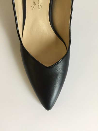 Marches Vous Leather Italian Comfortable Pointed Toe Slingback Black Pumps Image 7