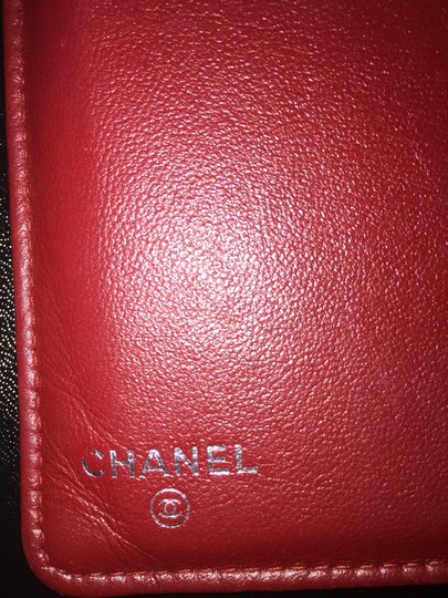 Chanel Camellia Long Bi-fold Red Wallet Chanel camellia bi-fold wallet long Image 1
