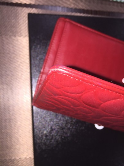 Chanel Camellia Long Bi-fold Red Wallet Chanel camellia bi-fold wallet long Image 9