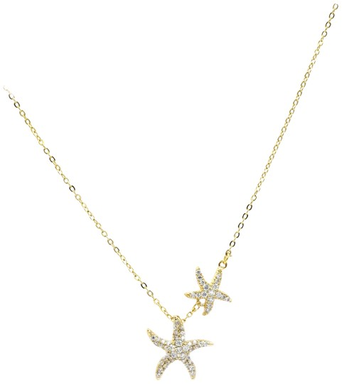 Preload https://img-static.tradesy.com/item/25774952/gold-double-starfish-crystal-necklace-0-1-540-540.jpg