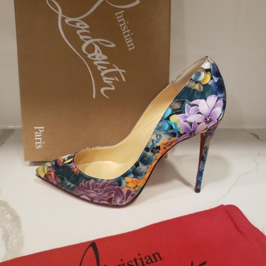 Christian Louboutin Stiletto Pigalle Floral Crepe Satin Multi Pumps Image 10