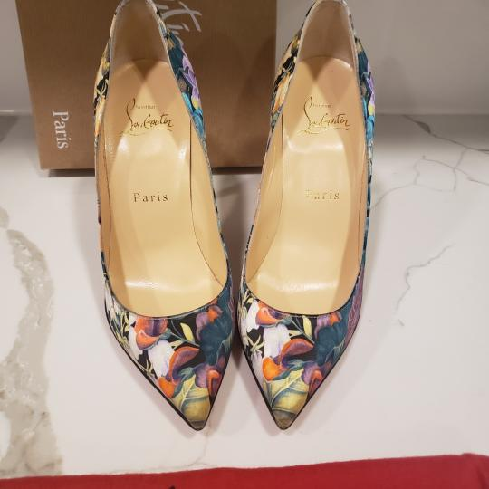 Christian Louboutin Stiletto Pigalle Floral Crepe Satin Multi Pumps Image 2