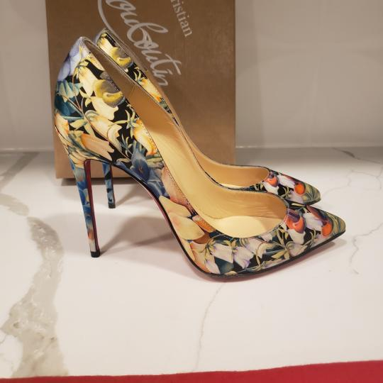 Christian Louboutin Stiletto Pigalle Floral Crepe Satin Multi Pumps Image 3