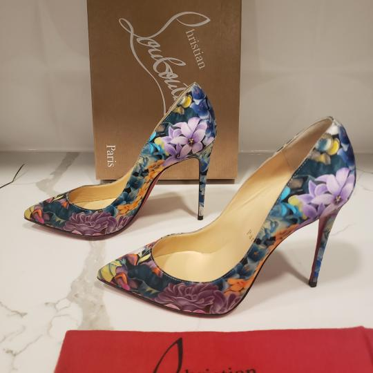 Christian Louboutin Stiletto Pigalle Floral Crepe Satin Multi Pumps Image 4
