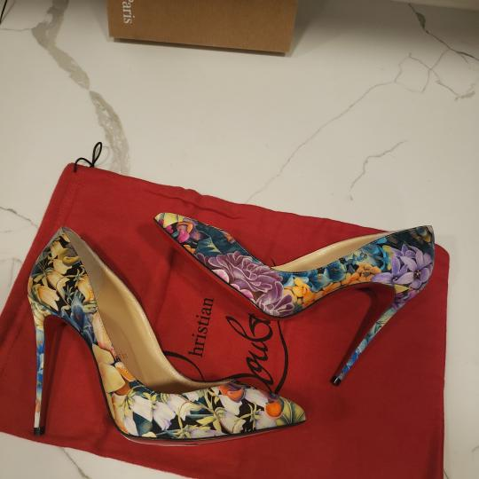 Christian Louboutin Stiletto Pigalle Floral Crepe Satin Multi Pumps Image 7
