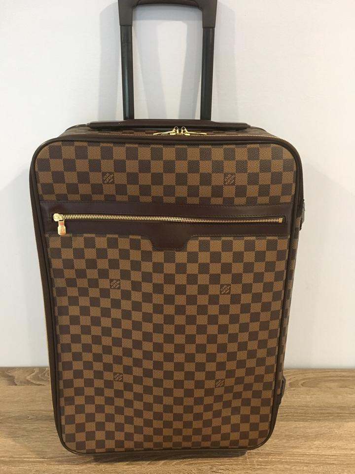 7bfd2eed509 Louis Vuitton Pegase 55 Damier Ebene Carry On Weekend/Travel Bag 74% off  retail