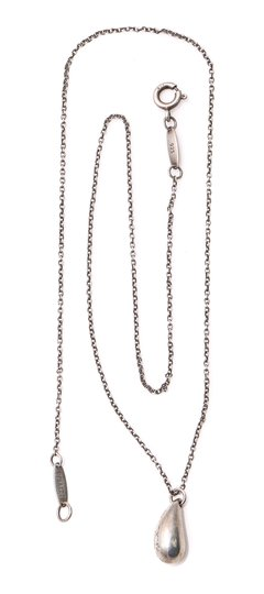 Tiffany & Co. Elsa Peretti Bean Pendant Necklace Image 1