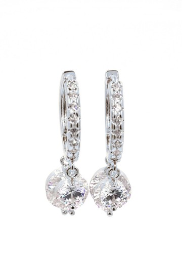 Preload https://img-static.tradesy.com/item/25775002/silver-shiny-pendant-crystal-earrings-0-0-540-540.jpg