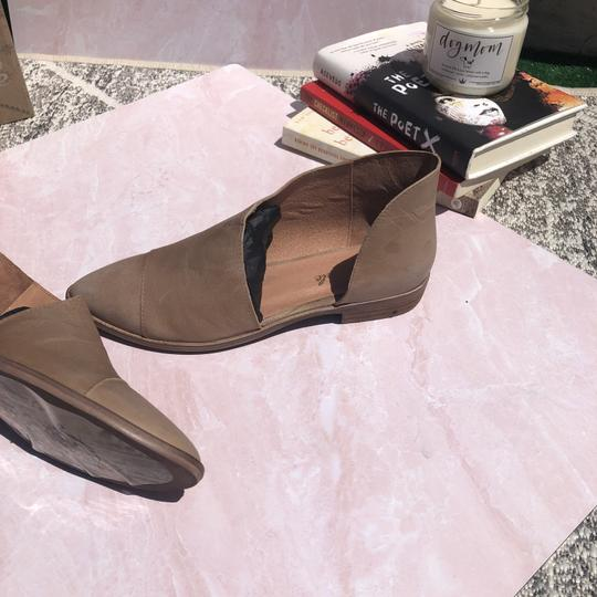 Free People Boho D'orsay Flat Pointed Toe Tan Boots Image 1