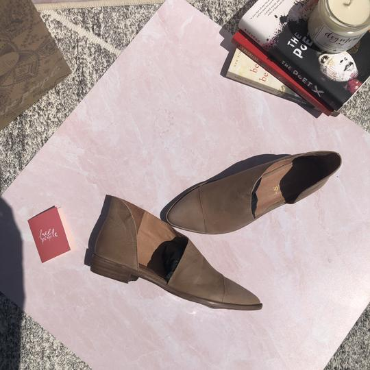 Free People Boho D'orsay Flat Pointed Toe Tan Boots Image 3