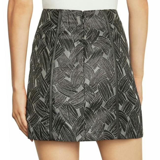BCBGMAXAZRIA Mini Skirt Metal Black Image 1