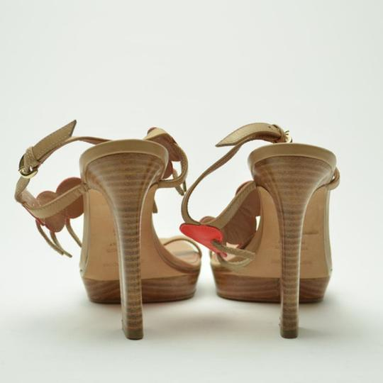 Sergio Rossi Platform Tan,Orange Sandals Image 2