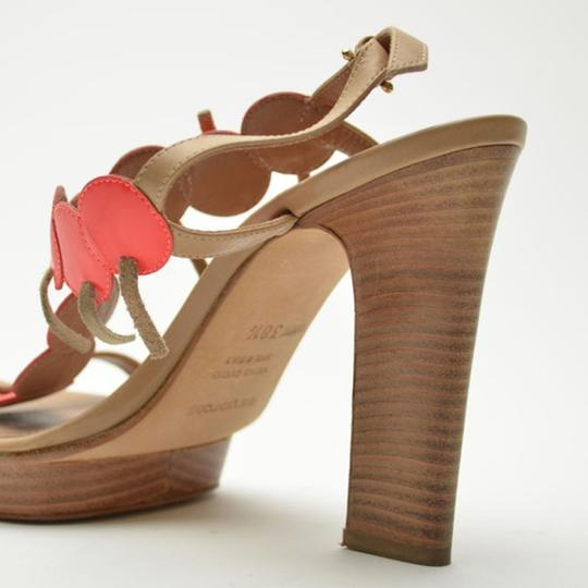 Sergio Rossi Platform Tan,Orange Sandals Image 5