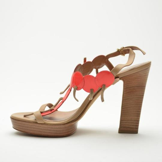 Sergio Rossi Platform Tan,Orange Sandals Image 8