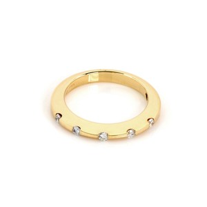 Roberto Coin Diamond 18k Yellow Gold 2mm Wide Band Ring