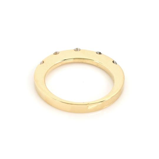 Roberto Coin Diamond 18k Yellow Gold 2mm Wide Band Ring Image 1