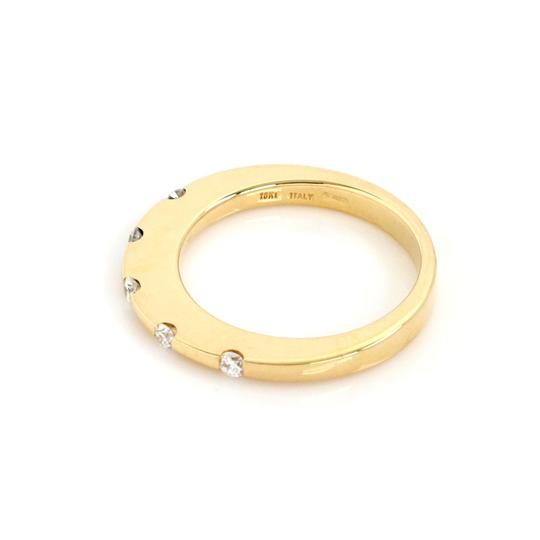 Roberto Coin Diamond 18k Yellow Gold 2mm Wide Band Ring Image 2