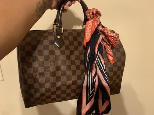 Louis Vuitton Speedy Monogram Canvas Satchel in Damier Ebene Image 2