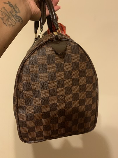 Louis Vuitton Speedy Monogram Canvas Satchel in Damier Ebene Image 3