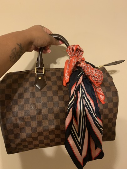 Louis Vuitton Speedy Monogram Canvas Satchel in Damier Ebene Image 4