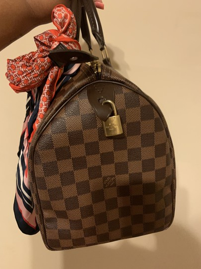 Louis Vuitton Speedy Monogram Canvas Satchel in Damier Ebene Image 5