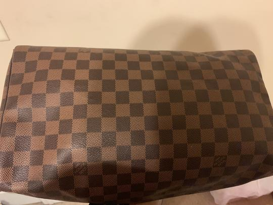 Louis Vuitton Speedy Monogram Canvas Satchel in Damier Ebene Image 6