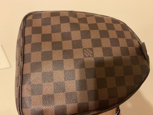 Louis Vuitton Speedy Monogram Canvas Satchel in Damier Ebene Image 7