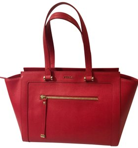 Furla Tote in Red