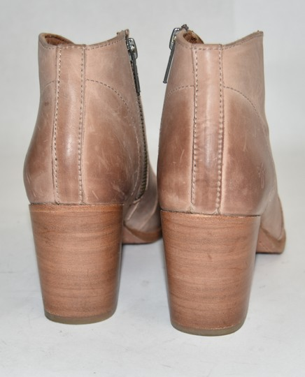 Frye Combat Moto Biker Motocycle Slouchy BROWN TAUPE Boots Image 1