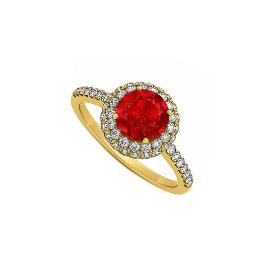 Preload https://img-static.tradesy.com/item/25775124/red-double-halo-ruby-and-cubic-zirconia-engagement-in-14k-yellow-gold-ring-0-0-540-540.jpg