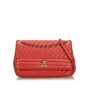 Chanel 9gchsh009 Vintage Lambskin Leather Shoulder Bag