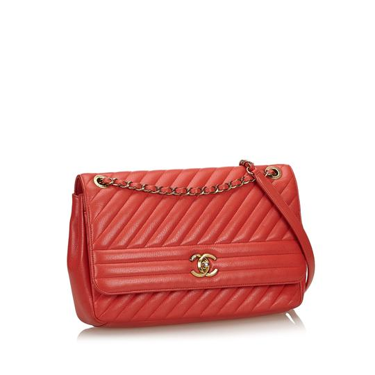 Chanel 9gchsh009 Vintage Lambskin Leather Shoulder Bag Image 1