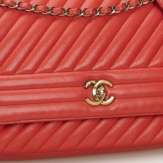 Chanel 9gchsh009 Vintage Lambskin Leather Shoulder Bag Image 11