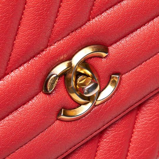 Chanel 9gchsh009 Vintage Lambskin Leather Shoulder Bag Image 8