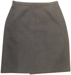 Ann Taylor LOFT Pencil Office Skirt Grey