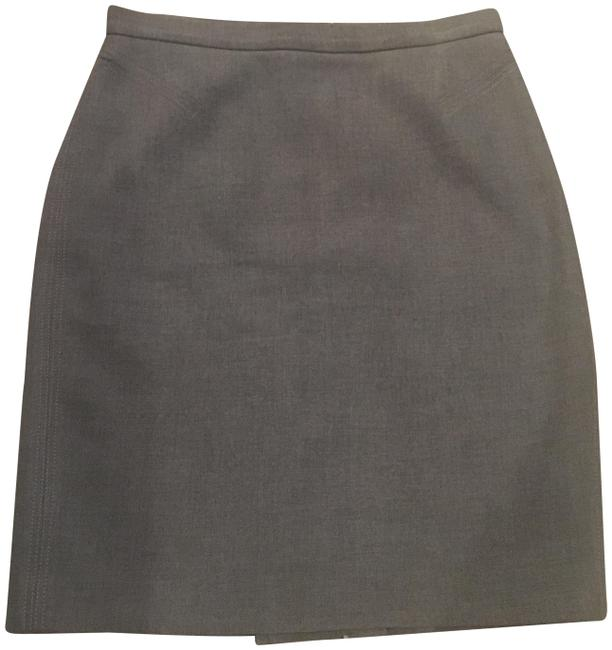 Ann Taylor LOFT Pencil Office Skirt Grey Image 0