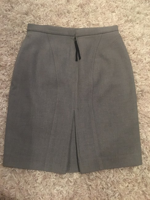 Ann Taylor LOFT Pencil Office Skirt Grey Image 2