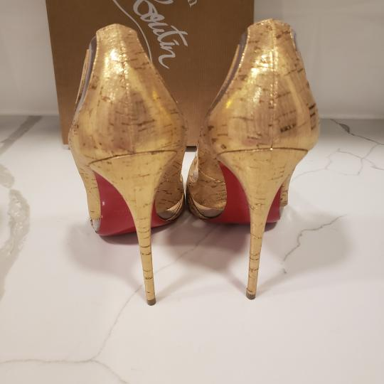 Christian Louboutin Stiletto Pvc Cork Clear Beige/Gold/Silver Pumps Image 1
