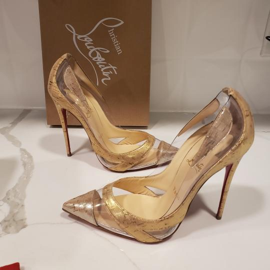 Christian Louboutin Stiletto Pvc Cork Clear Beige/Gold/Silver Pumps Image 2