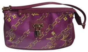 Louis Vuitton Monogram Locks And Charms Pink Limited Edition Purple Clutch