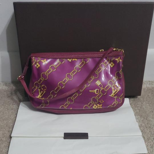 Louis Vuitton Monogram Locks And Charms Pink Limited Edition Purple Clutch Image 1
