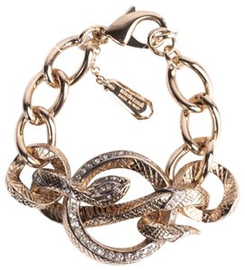 Roberto Cavalli gold plated chain bracelet