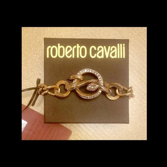 Roberto Cavalli gold plated chain bracelet Image 1