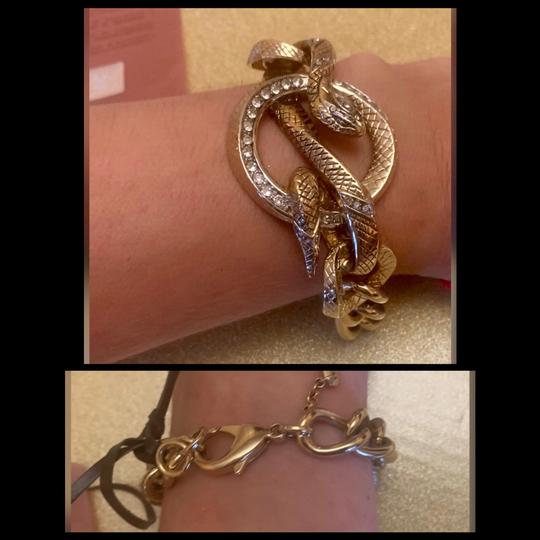 Roberto Cavalli gold plated chain bracelet Image 4