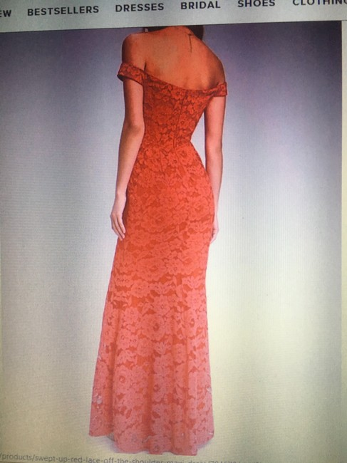 Lulu*s Off The Shoulder Lace Gown Dress Image 6