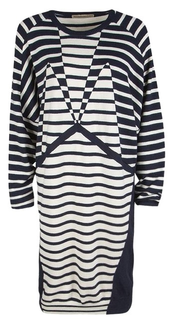 Preload https://img-static.tradesy.com/item/25775323/balenciaga-navy-blue-and-cream-striped-silk-cashmere-sweater-short-casual-dress-size-8-m-0-1-650-650.jpg
